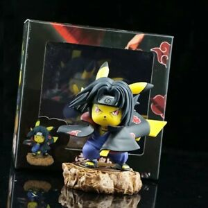 Pikachu Cosplay Naruto Shippuden Uchiha Itachi PVC Figure New No Box 11cm