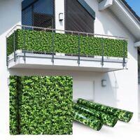 Balkon Sichtschutz 600x75cm Balkonsichtschutz Balkonverkleidung Buchsbaum
