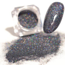 1 Box Holographic Grey Laser Powder Ultra-thin Shining  Nail Art Tips