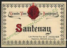 Etiquette de Vin - Bourgogne - Santenay- New - Never Stuck - Réf.n°98