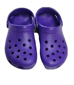 Children Crocs Classic Clog K Ultraviolet Roomy Sz C11 Shoes Sandals
