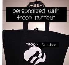 Girl Scouts New Personalized  With Troop number Tote Bag Black