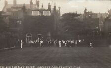 English Real Photo. Bowling Green Chelsea Conservative Club. Rare! c 1912