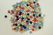 50 perles en bois 6mm couleur mixte 6 mm perle, bijoux, bracelet, collier