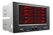 "Aerocool Touch 2100 LCD Touch Screen 5 Fan Controller 2x 5.25"" 2x USB 3.0"