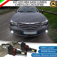 KIT FULL LED HB4 9006 CHRYSLER CROSSFIRE 6000K CANBUS 6400 LUMEN FENDINEBBIA