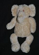 Peluche Doudou Elephant Beige JOLLYBABY Creme Ecru Hochet 24 Cm Elefant  TTBE