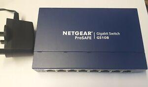 NETGEAR ProSafe Model GS108 8 Port  Ethernet Switch Gigabit Ethernet
