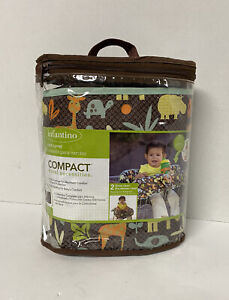 BABY CART COVER - Infantino Compact Travel Necessities 2 in 1, Animals Zoo *NEW*