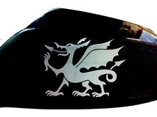 Cymru Welsh Dragon Car Sticker Wing Mirror Styling Decals (Set of 2), Chrome