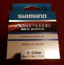 Shimano ASPIRE silk shock. 50m, 1.50ibs/0.70Kg. 0.08mm Diameter. New/boxed.
