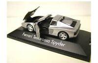 HERPA 010344 FERRARI TESTAROSSA SPYDER plastic model road car silver body 1:43rd