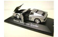 Herpa 010344 Ferrari Testarossa Spyder Modelo de Plástico Cuerpo de plata de coche de carretera 1:43rd