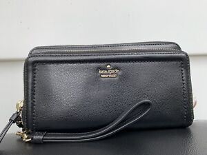 New Kate Spade Wallet Patterson Drive Anita Black Wristlet
