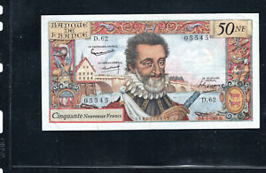 Billet 50 Nouveaux Francs Henry IV 06/07/61 TTB+ Fay 58-06