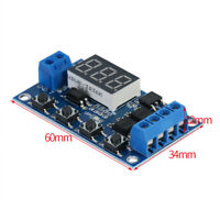 Trigger Cycle Delay Timer Switch Turn On/Off Relay Module with LED Display DC