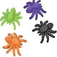 Pack of 4 - Spider Shaped Erasers - Great Halloween Party Bag Fillers