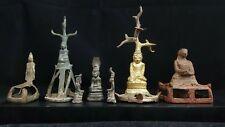 Antique burmese buddha bronze burma