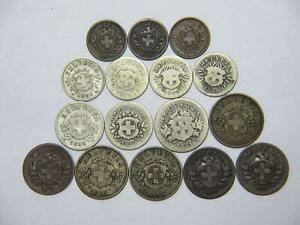 SWITZERLAND HELVETICA 1 2 5 10 20 RAPPEN MIXED WORLD COIN COLLECTION LOT 🌈⭐🌈