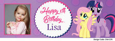 24hrs Delivery My Little Pony Birthday Banner- Add Photo,Name & Age- 10 Designs!