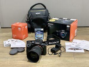 SONY A7III + 50mm Lens + HOYA PRO1 UV Filter + Camera Bag. Shutter Count Is 258.