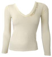 T-shirt Maglia Maniche Lunghe scollo V long Sleeves DENNY ROSE Donna Woman Av...