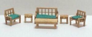 Dollhouse Miniature 1:144 Scale Modern Style Living Room Furniture Kit ( 6 PCS)