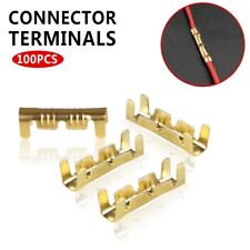 100Pcs Car Brass Copper 0.5-1.5mm² Crimp Electrical Connector Wire Terminal Kit