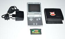 Nintendo Game Boy Advance SP in Silber + Zubehörpaket + ZELDA THE MINISH CAP