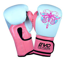 Evo Femmes Rose Gants De Boxe Enfants GEL MMA Sac De Frappe Kick Boxing MuayThai
