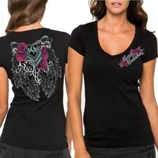 Metal Mulisha Ladies Ditto V-Neck Tee Size XS