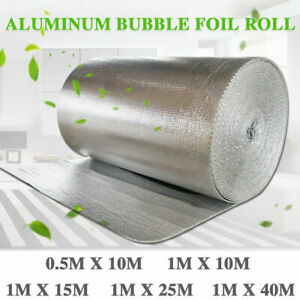 Insulation Foil Metal Shed Bubble Double Aluminium Loft Caravan Wall 10m 25m 40m