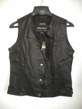 Womens Medium Yamaha Star Motorcycle Black Leather Vest