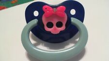 1 ADULT PACIFIER WITH CUTE PRINCESS SKULL FOR YOUR LITTLE ONE