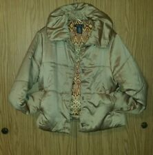 Adorable GEORGE Designs by Mark Eisen Size L 12/14 Ladies Puffy Jacket W/pockets