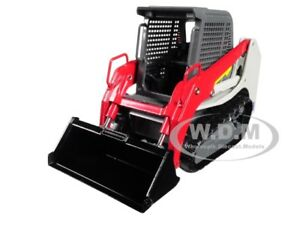 TRACK LOADER GRAY/RED 1/34 DIECAST MODEL BY FIRST GEAR 10-4113