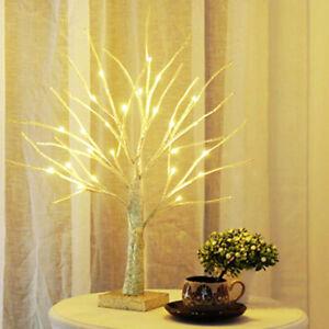 60cm Twig Christmas Halloween Birch Easter Tree LED Light Home  Decor Warm White