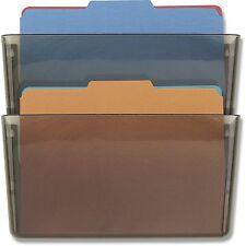 Wall Mount File Sorter Letter Folder Holder Organizer Rack 2 Sectional Storage