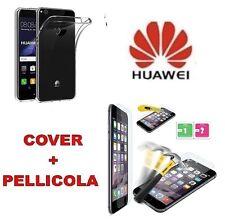 Custodia Cover Slim silicone trasparente Huawei P8 Lite 2017 PRA-LX1 + Pellicola