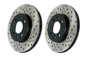 StopTechSlotted & Drilled Sport Rear Brake Rotors for 12-17 Fiat 500 Abarth