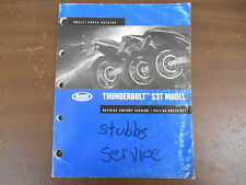 OEM Harley-Davidson 99570-02Y 2002 THUNDERBOLT S3T PARTS CATALOG Used 99 pages