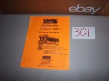 2002 Monroe Salter Salt Spreader Service and Illustrated Parts Manual 10' and 13