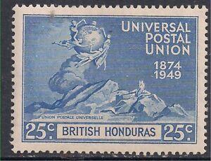 British Honduras 1949 KGV1 25ct UPU Postal Union Blue MM SG 175 ( E897 )