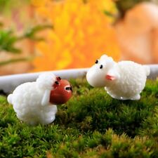 Garden Ornament Sheep Couple Resin Figurine Craft Plant Pot Fairy DIY Decoration