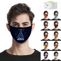 Gesichtsmaske gesichtsabdeckung Waschbar Wiederverwendbare Weihnachten CoverP/D