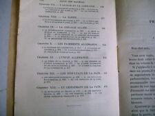 première guerre mondiale LA PAIX Tardieu pref Clemenceau 1921