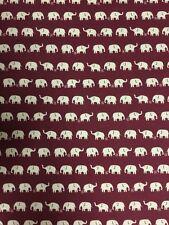 Bianco su rosso Elefante Design 100% COTONE STOFFA AL METRO