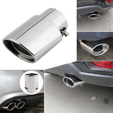 Car Chrome Stainless Steel Rear Round Exhaust Pipe Tail Muffler For Auto Car SUV