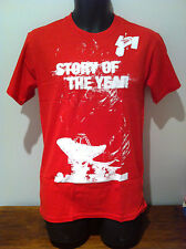 STORY OF THE YEAR Satellite Red T-SHIRT NEW OFFICIAL MERCH Size MEDIUM Rare