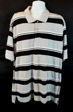 Foot Locker Classic Men's Polo 1/4 Button Shirt Gray/Black Striped Size 2XL New